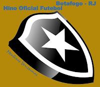Escudo do Botafogo do Rio de Janeiro chamando para escutar o Hino Oficial do Futebol  do clube, composto por Octacilio Gomes e Eduardo Souto