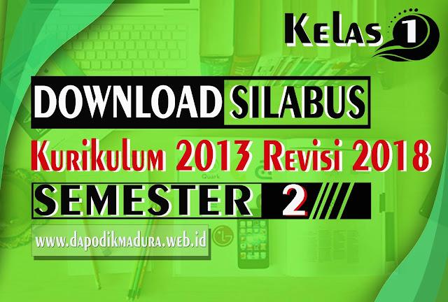 Download Silabus Tematik Kelas 1 Semester II K13 Revisi 2018 Doc