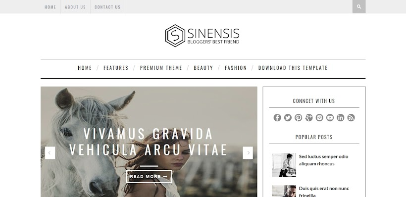 Sinensis Free Blogger Template