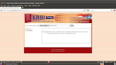 KBBI Daring - Kamus Besar Bahasa Indonesia Online
