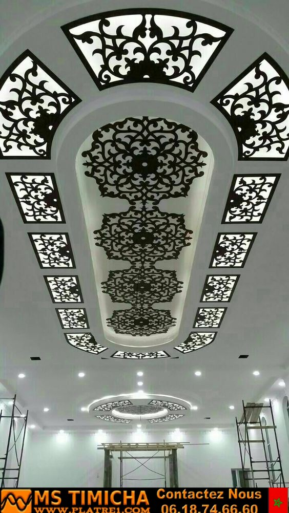 decoration cnc platre salon