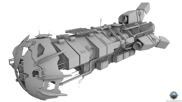cyclops civilian frigate concept model 3D free download solcommand dust shield combat military refurbished