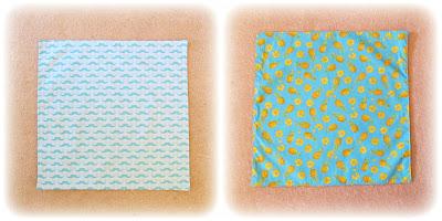 image handmade dinner napkin serviette fabric moustache mo domum vindemia riley blake fabric aqua blue pineapple pineapple slices yellow