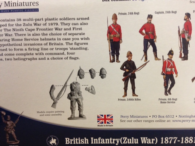 Perry Miniatures: Plastic British Zulu War Infantry