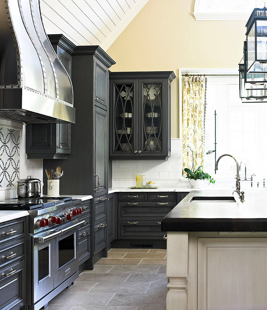 Dark To White Kitchen Cabinets: Color Outside The Lines: Kitchen Inspiration Month: Day 17