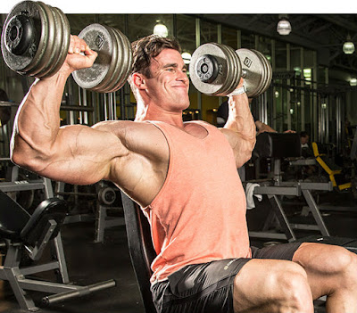 overhead dumbell press for shoulders