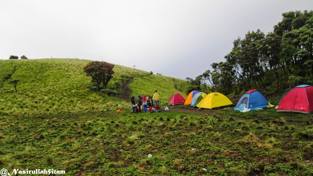 Lokasi strategis untuk mendirikan tenda di Sabana 2