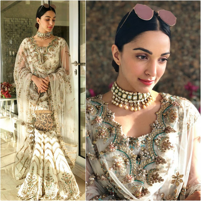 Kiara Advani in Rimple Harpreet Narula and Mahesh Notandas jewelry for a wedding