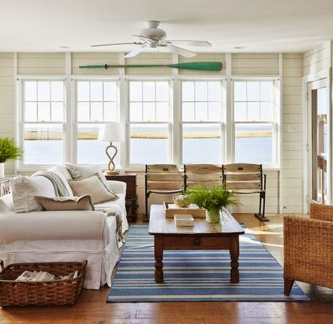 Coastal Living Room in Sandy Gingras Home