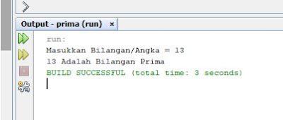 menampilkan deret bilangan prima dengan java netbeans