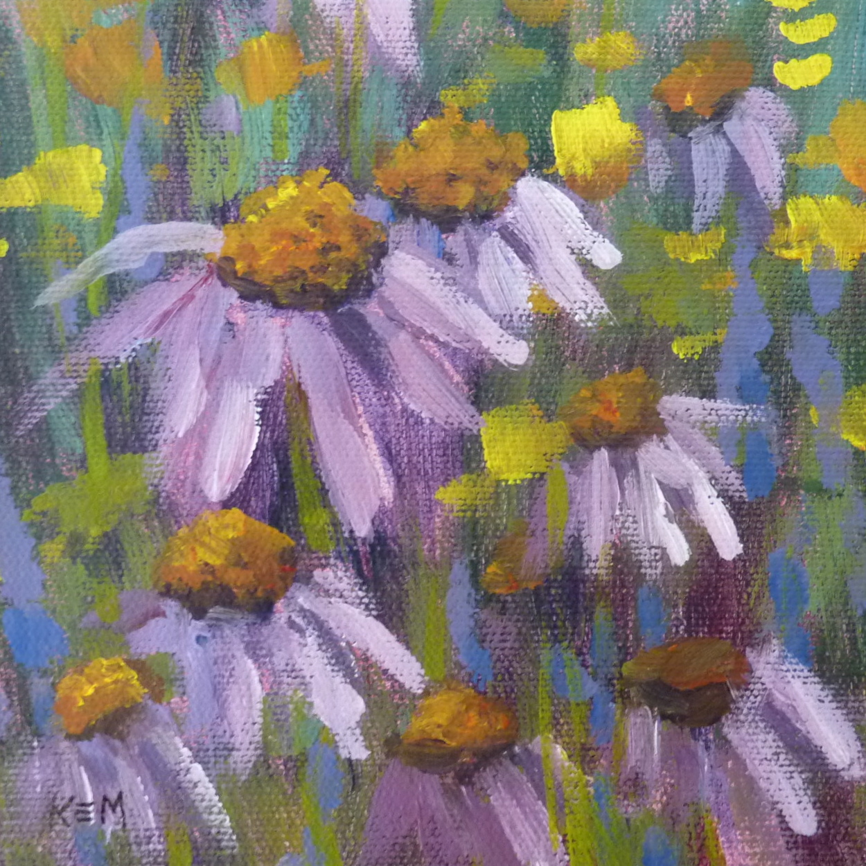 Painting My World: A Twist on my Acrylic Flowers...no lines