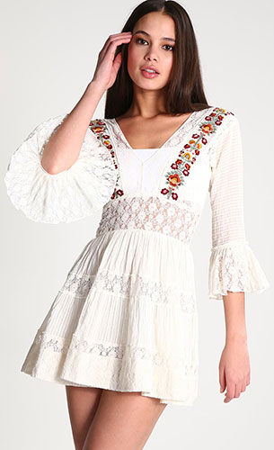 vestido blanco Free People Zalando