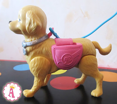 Заводная игрушка щенок куклы барби, умеет ходить и какать