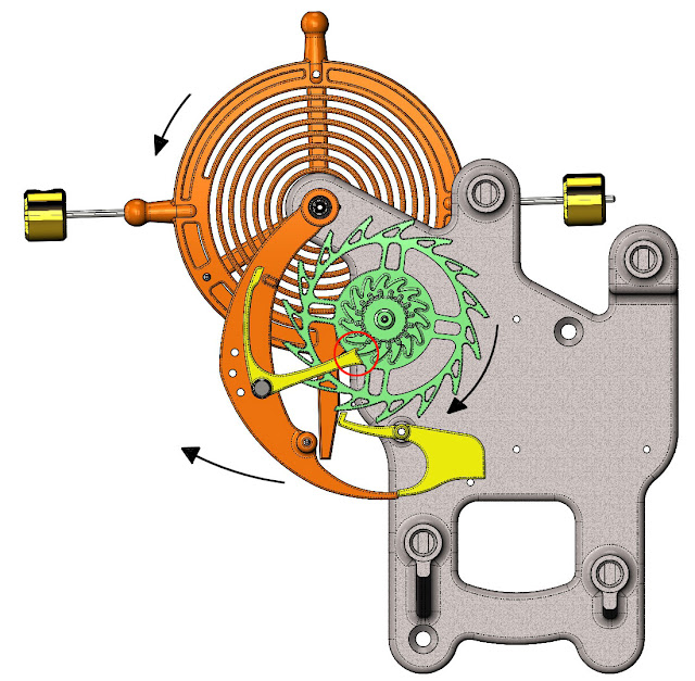 Mechanism Wheel Lever : Wooden clocks using a balance wheel and spring to