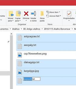 Atalho renomear ficheiros