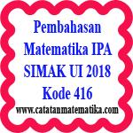 Soal dan Pembahasan Matematika IPA SIMAK UI 2018