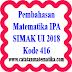 Pembahasan SIMAK UI 2018 Matematika IPA Kode 416