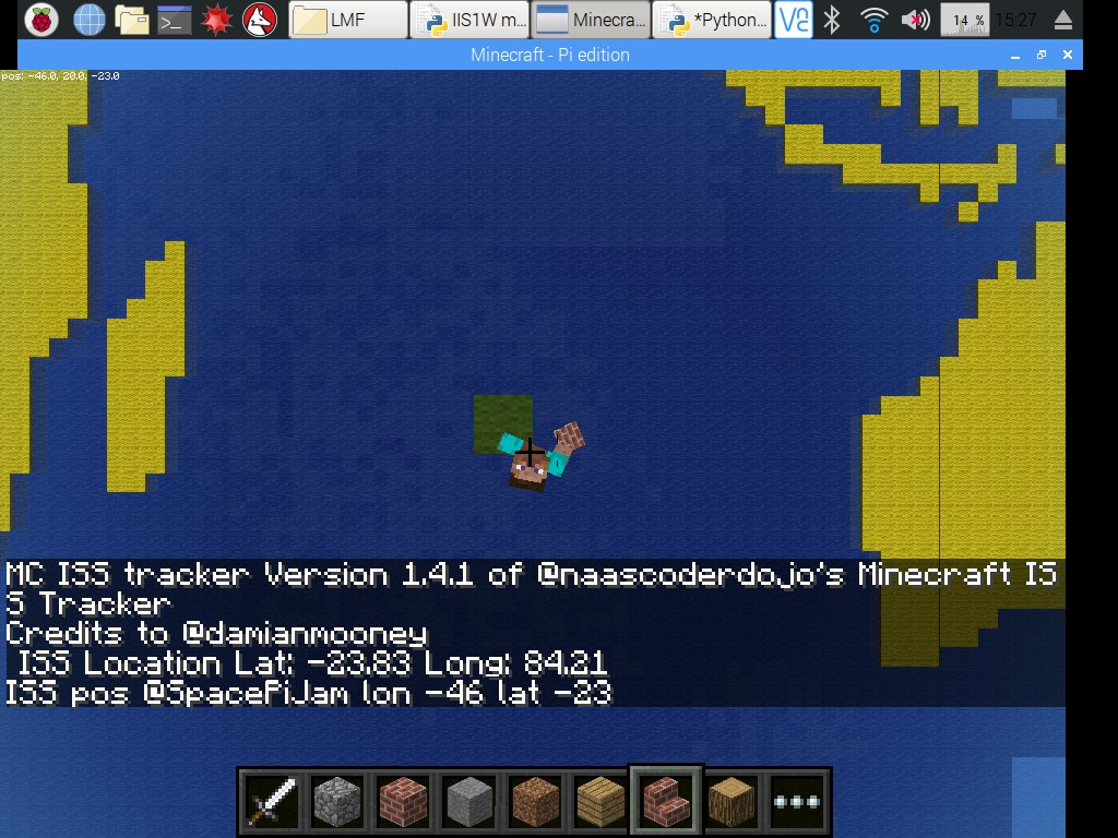 Jammy blog: 24 hours tracking the ISS in Minecraft and Twitter