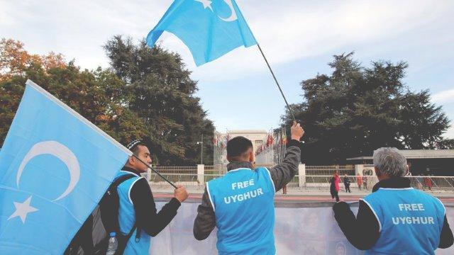 Акция за свободу уйгурам
