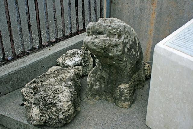 字渡嘉敷のシーサーの写真