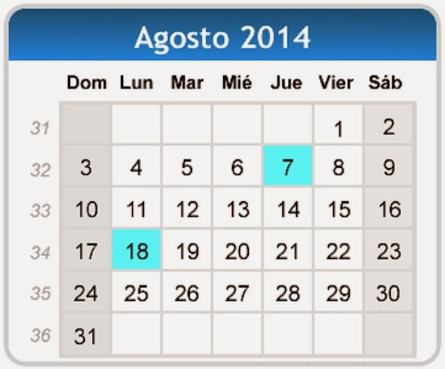 Gallery Calendario Agosto 2014