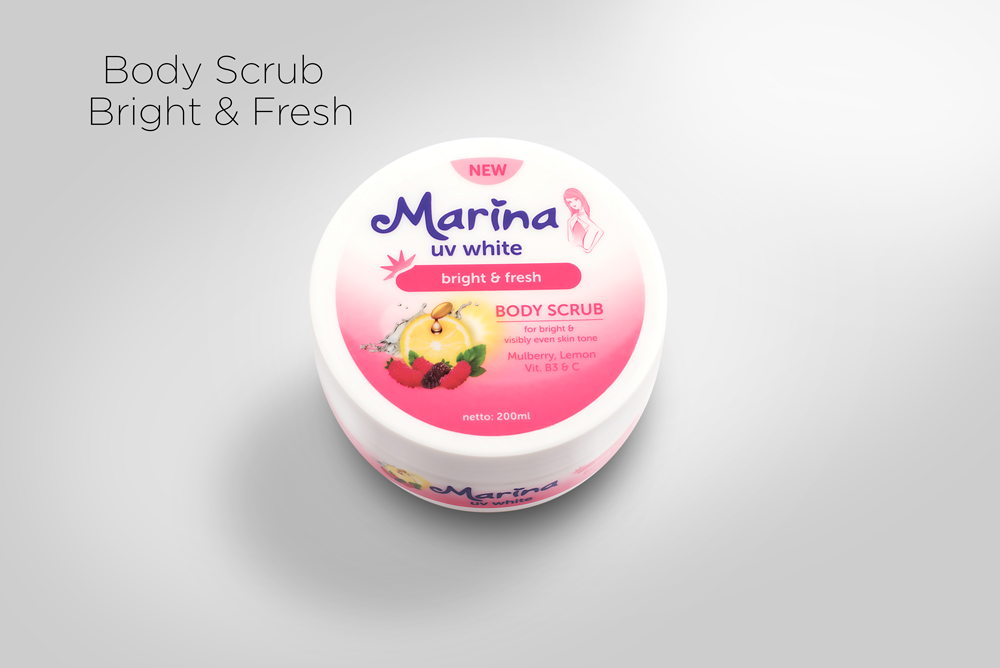Marina UV White Body Scrub dan Hand and Body Lotion