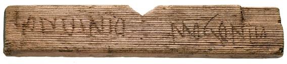 Les plus anciennes écritures de Londres