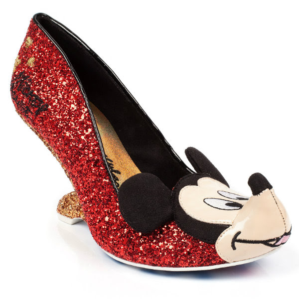 irregular choice disney mickey oh boy glitter shoes