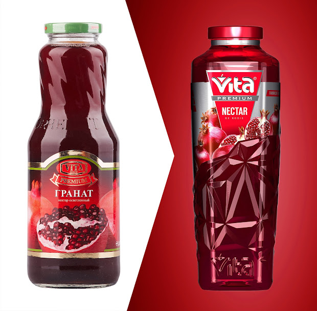 Vita Premium Juices Packaging Of World - Creative