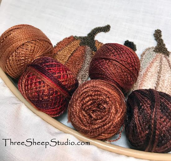Valdani Perle Cotton Thread used in Punch Needle by Rose Clay at ThreeSheepStudio.com