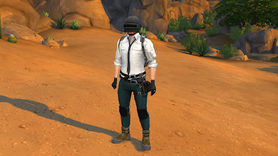 PUBG Male Outfit Conversion to Sims 4 ~ Cepzid Sims