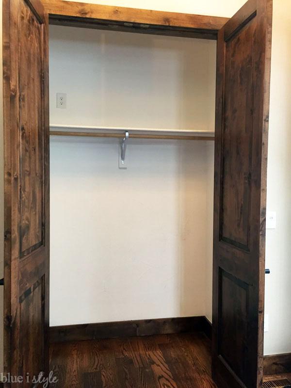 Empty coat closet