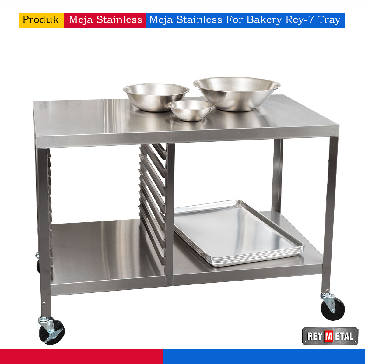 Meja stainless steel for bakery for Harga kitchen set stainless steel