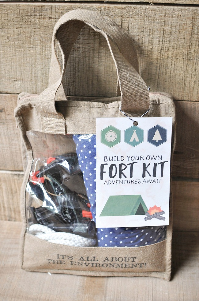 DIY fort building kit and printable for kids