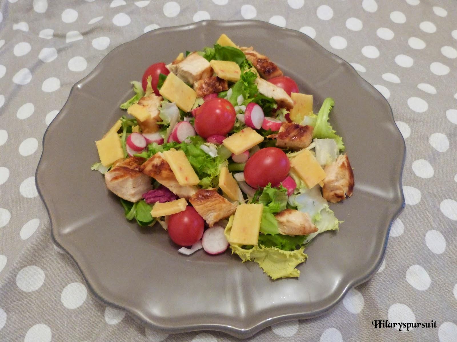 Salade printanière au poulet grillé