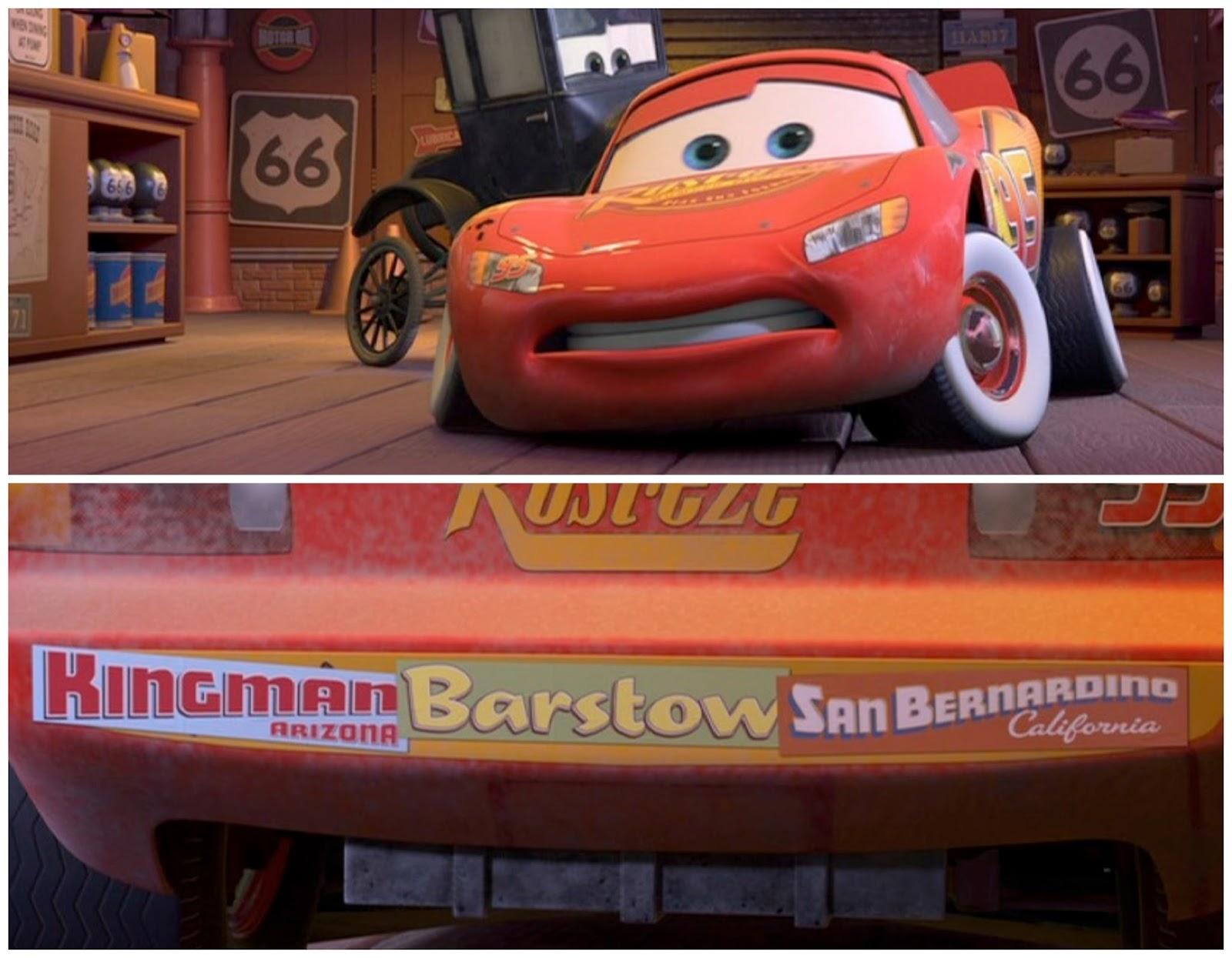 Dan the Pixar Fan: Cars: Lightning Mcqueen with Bumper Stickers