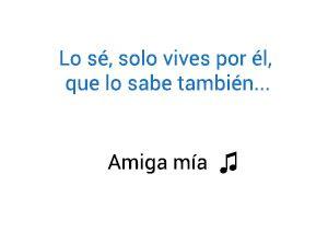 Alejandro Sanz Amiga Mía significado de la canción.