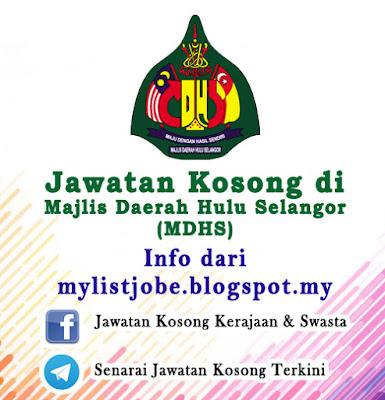 Jawatan Kosong di Majlis Daerah Hulu Selangor (MDHS)
