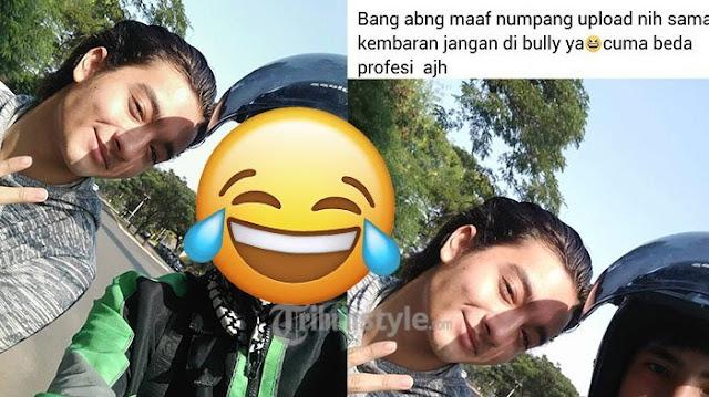 Driver Ojol Pamer Ketemu Artis, tapi Netizen Justru Bilang Abang Ojeknya yang Lebih Ganteng!