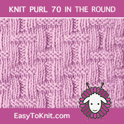 Basketweave stitch pattern - Easy to knit in the round