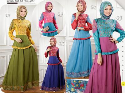 Aneka baju batik remaja muslimah untuk hari raya