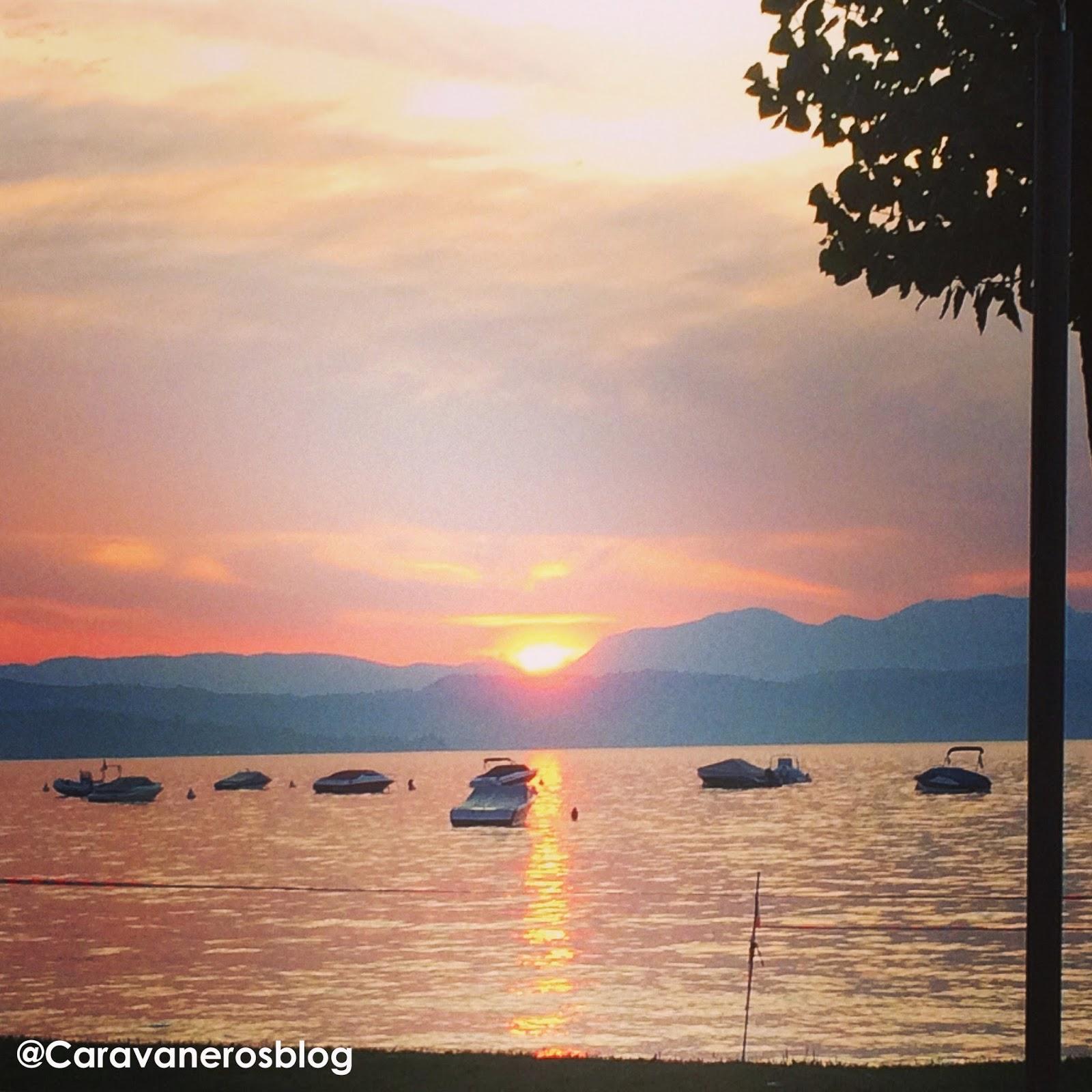 Foto del Atardecer. Lago del Garda. Tramonto | caravaneros.com