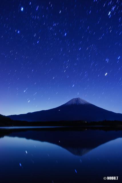 星空と富士山~田貫湖