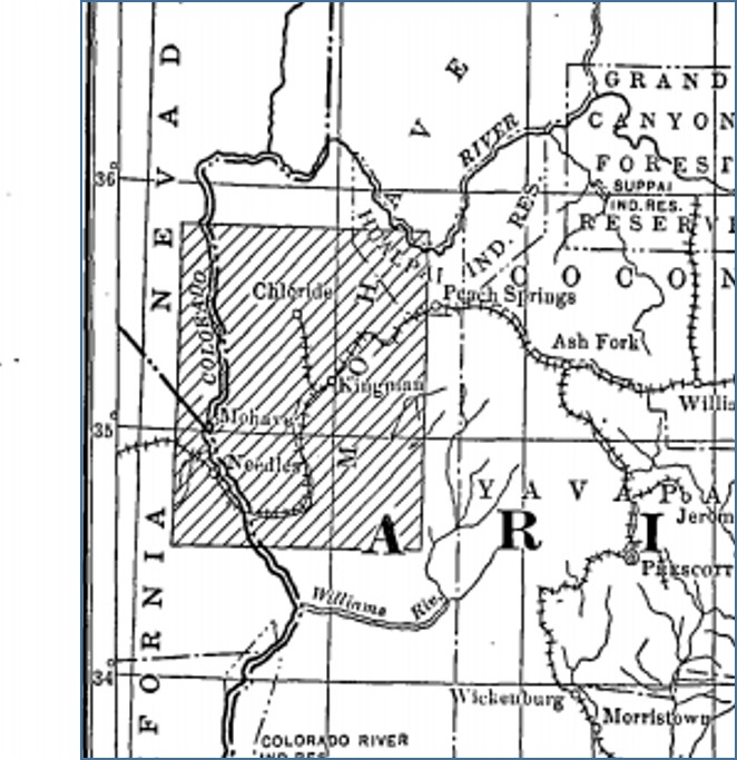 Map Of Arizona Kingman.Arizona Rails Ruins And Trails Arizona And Utah Railroad Western