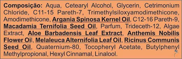 Ingredientes da Macadâmia Oil Premium Máscara Hidratante, Inoar