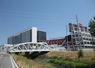 Levi's Stadium from the San Tomas Aquino Trail, Santa Clara, California
