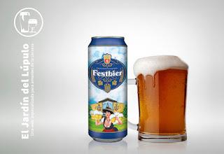 Festbier alemana elaborada para el Lidl por Perlenbacher, para la Oktoberfest.