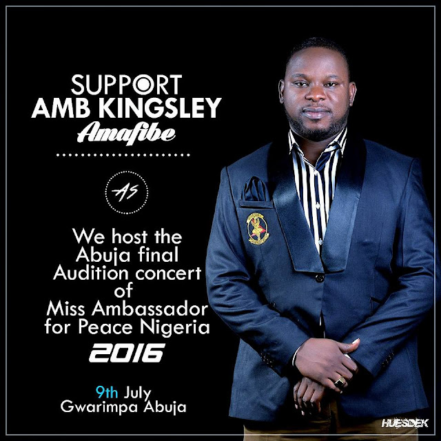 Abuja Final Audition Concert of Miss Ambassador for Peace Nigeria 2016.