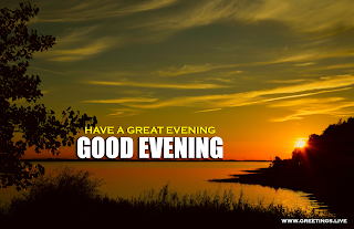 Sunset Lake good evening picture messages free download,
