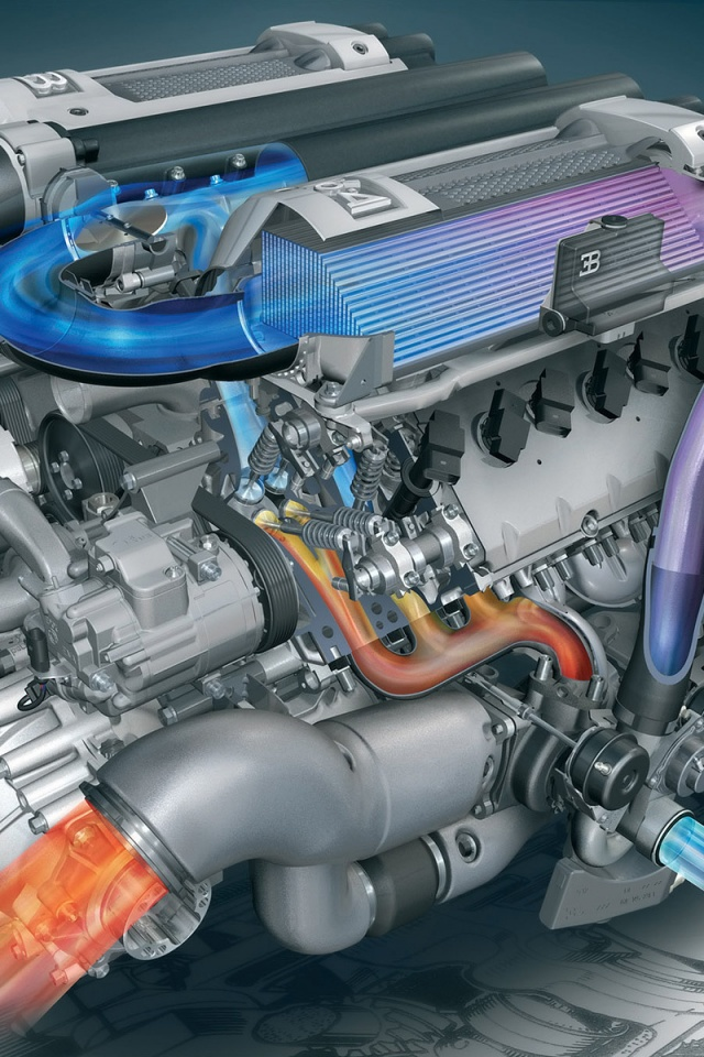 Carz US: Bugatti Engine